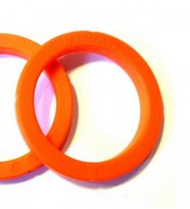 SIEBTRAEGERDICHTUNG ORANGE SILIKON PORTAFILTER GASKET 8mm 72/63x55x8